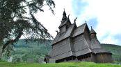 Vangsnes. Església de fusta típica noruega.