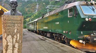 Flåm i el seu famós tren.
