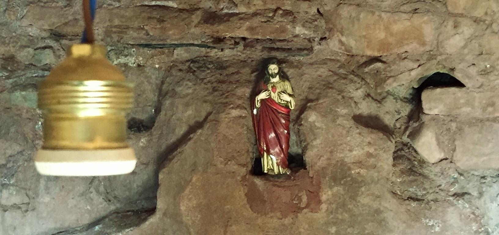 Sala de pregària a l'ermita de Sant Joan de la Muntanya, Montblanc.