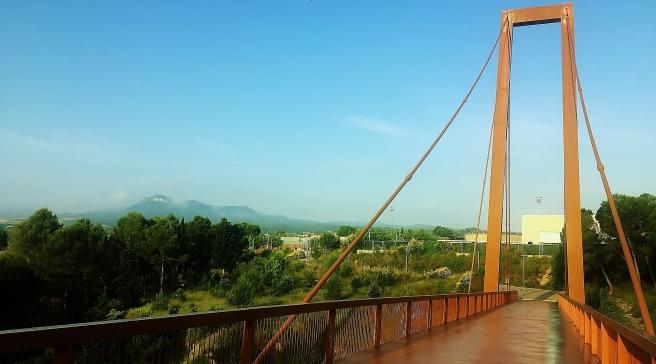 Pont de Fàtima sobre el Torrent de l'Espelt